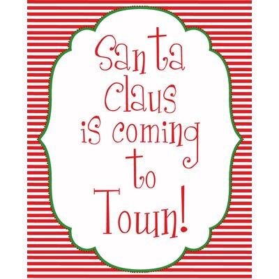 Santa Coming to Town Art Print by Secretly Designed