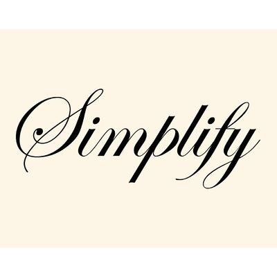 Secretly Designed Simplify Wall Art Print