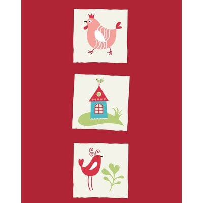 Secretly Designed Rooster Bird and Home Paper Print