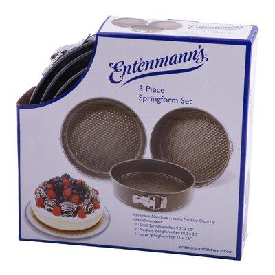 Classic 3 Piece Springform Pan Set by Entenmann's Bakeware