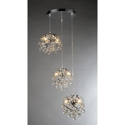Links 3 Light Crystal Chandelier Product Photo