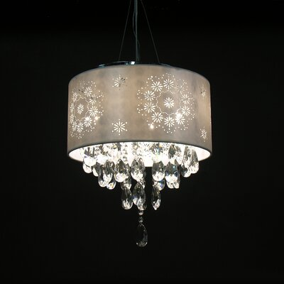Rayan 4 Light Crystal Drum Chandelier Product Photo