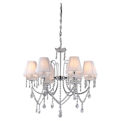 Eros 6 Light Crystal Chandelier by Warehouse of Tiffany