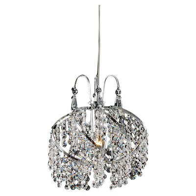 1 Light Crystal Chandelier Product Photo