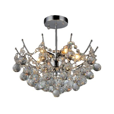 Shine 5 Light Crystal Chandelier Product Photo