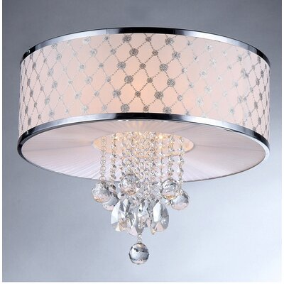 France 5 Light Crystal Drum Chandelier by Warehouse of Tiffany