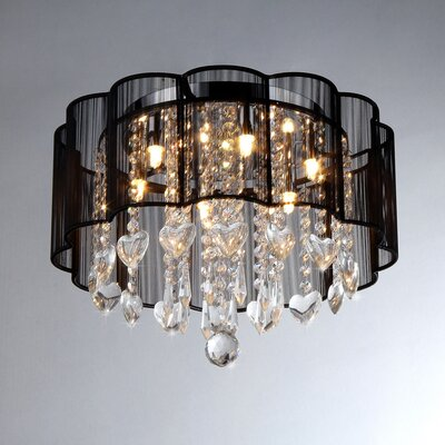 warehouse of tiffany enyo 6 light crystal drum chandelier reviews. Black Bedroom Furniture Sets. Home Design Ideas