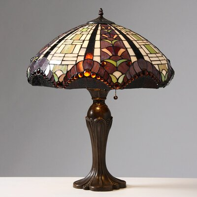 "Warehouse of Tiffany Gothique Manor 27"" H Table Lamp with Bowl Shade"