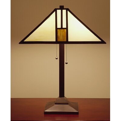 """Warehouse of Tiffany Mission Style 25"""" H Table Lamp with Empire Shade"""