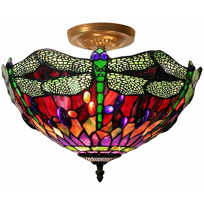 Dragonfly 1 Light Semi Flush Mount Product Photo