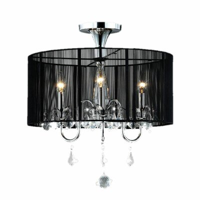 Clara 3 Light Crystal Chandelier Product Photo