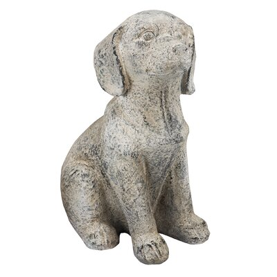 French Chic Garden Dog Magnesia Statue by A&B Home Group, Inc