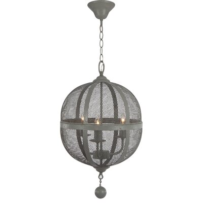 French Chic Garden 3 Light Mini Chandelier by A&B Home Group, Inc