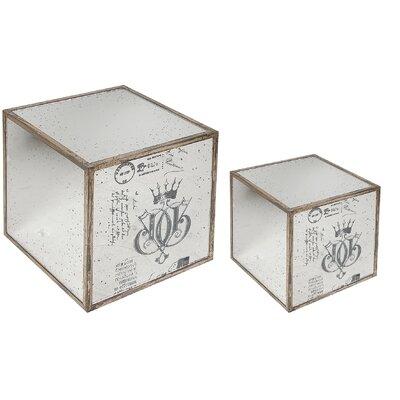 A&B Home Group, Inc Mirror End Table (2 Piece Set)