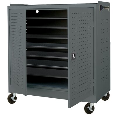 Sandusky Cabinets 16-Compartment Laptop Storage Cart with Charging System