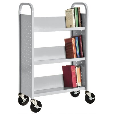 Sandusky Cabinets Sloped Shelf Book Cart