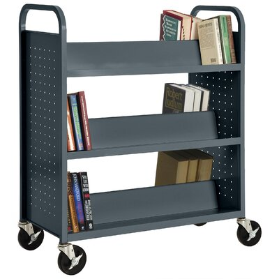 Sandusky Cabinets Double-Sided Sloped-Shelf Book Cart