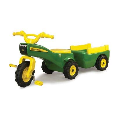 John Deere Trike and Wagon Set