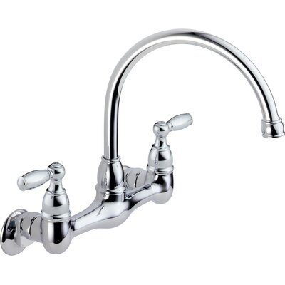 Two Handle Wall Mounted Kitchen Faucet Product Photo