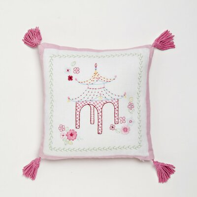 Whistle and Wink Pagoda Decorative Cotton Throw Pillow