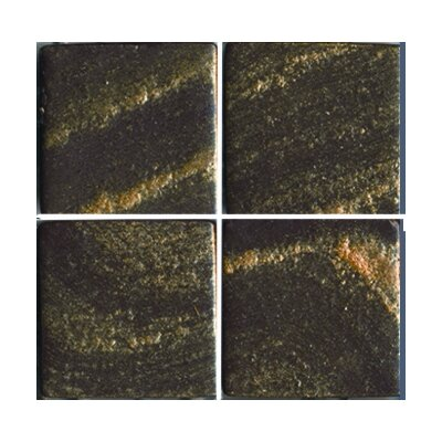 "Epoch Architectural Surfaces Metalz 1"" x 1"" Glass Mosaic Tile in Bronze"