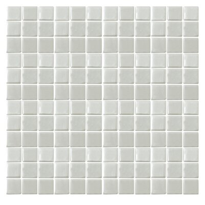 """Epoch Architectural Surfaces Iridescentz 1"""" x 1"""" Glass Mosaic Tile in White"""