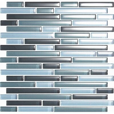 Epoch Architectural Surfaces Color Blends Gris Random Sized Glass Mosaic Tile in Gray