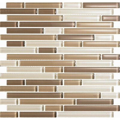 Color Blends Arena Random Sized Glass Mosaic Tile in Beige by Epoch