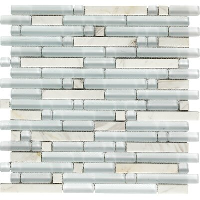 Varietals Viognier Random Sized Stone and Glass Mosaic Tile in White by Epoch