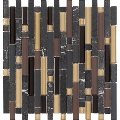 Varietals Pinot Noir Random Sized Stone and Glass Mosaic Tile in Multi by Epoch