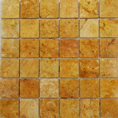 "Epoch Architectural Surfaces 2"" x 2"" Travertine Mosaic Tile in Gold"