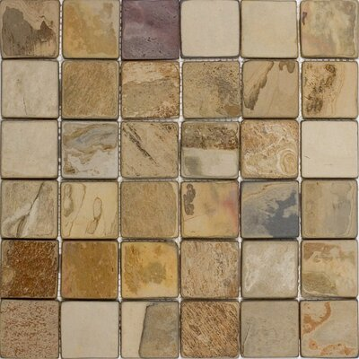 "Epoch Architectural Surfaces 2"" x 2"" Slate Mosaic Tile in Fall"