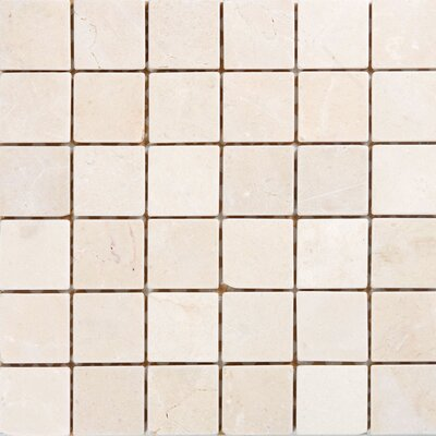 "Epoch Architectural Surfaces 2"" x 2"" Marble Mosaic Tile in Crema Marfil"
