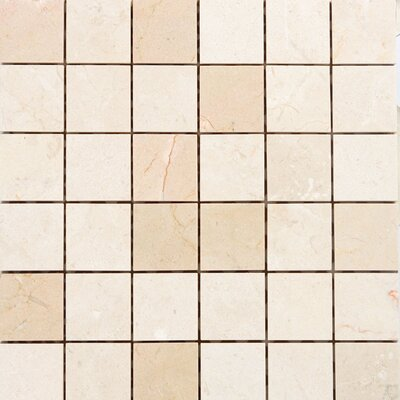 """Epoch Architectural Surfaces 2"""" x 2"""" Marble Mosaic Tile in Crema Marfil"""