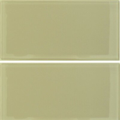"Epoch Architectural Surfaces Desertz Sahara 6"" x 12"" Glass Subway Tile in Beige"