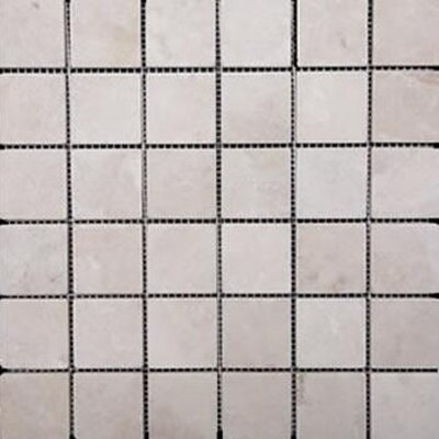 Epoch Architectural Surfaces 1'' x 1'' Travertine Mosaic Tile in Ivory