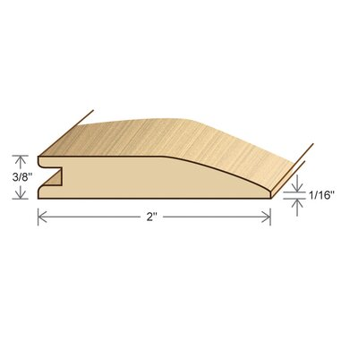 "Moldings Online 0.375"" x 2"" x 78"" Avodire Reducer"