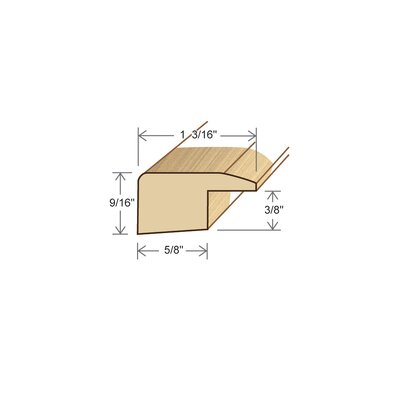 """Moldings Online 0.56"""" x 1.19"""" x 72"""" Bamboo Square Nose"""