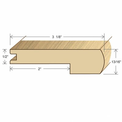 "Moldings Online 0.47"" x 3.15"" x 78"" Bamboo Carbonized Horizontal Stair Nose"
