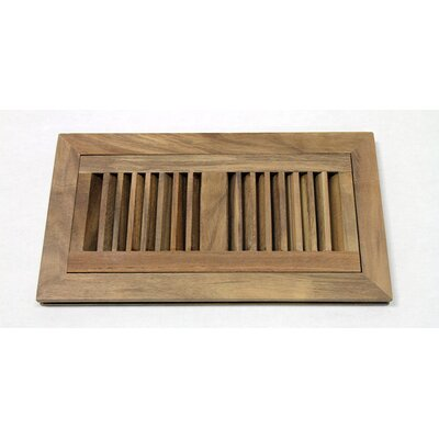 "Moldings Online 2"" x 12"" Acacia Wood Flush Mount Vent Cover"