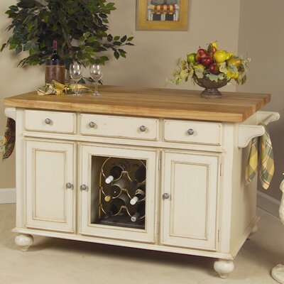 Signature Kitchen Island with Butcher Block Top Product Photo