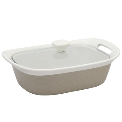 Corningware Etch Baking Dish with Glass Cover