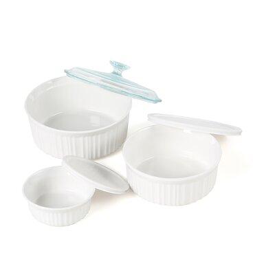 Corningware French White 6 Piece Bakeware Set