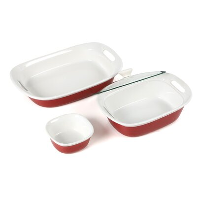 Corningware Etch 4 Piece Bakeware Set