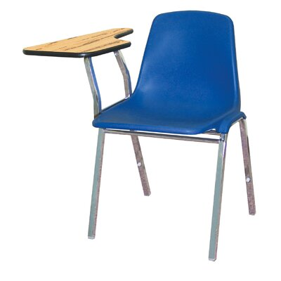 "National Public Seating 18"" Plastic Tablet Arm Chair"