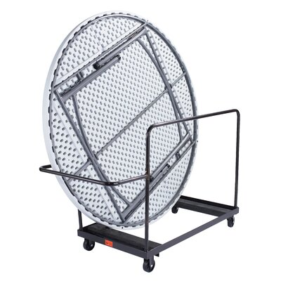 National Public Seating Folding Round Table Dolly