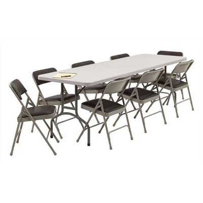 "National Public Seating 96"" Rectangular Folding Table"