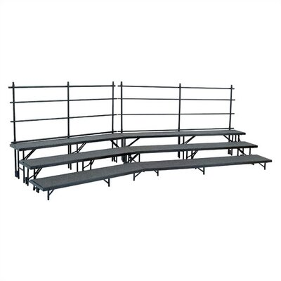 National Public Seating Tapered Standing Choral Riser Set in Carpet