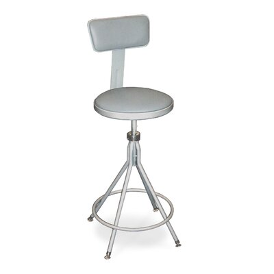 National Public Seating Height Adjustable Swivel Stool with Backrest