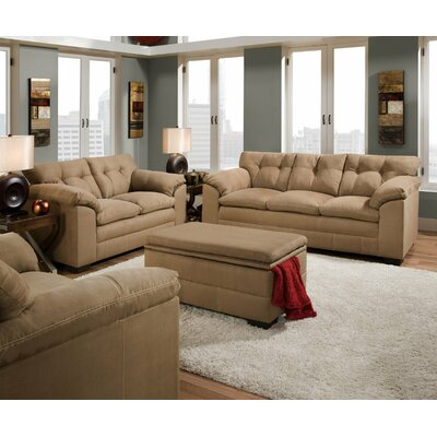 Simmons upholstery velocity living room collection reviews wayfair for Simmons living room furniture sets